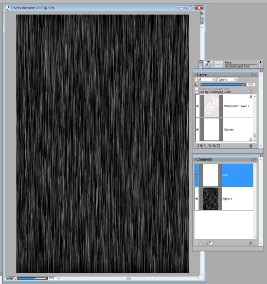 Texture applied to alpha channel
