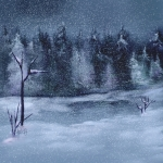 Cool Winter Evening, Oils Corel Painter 12