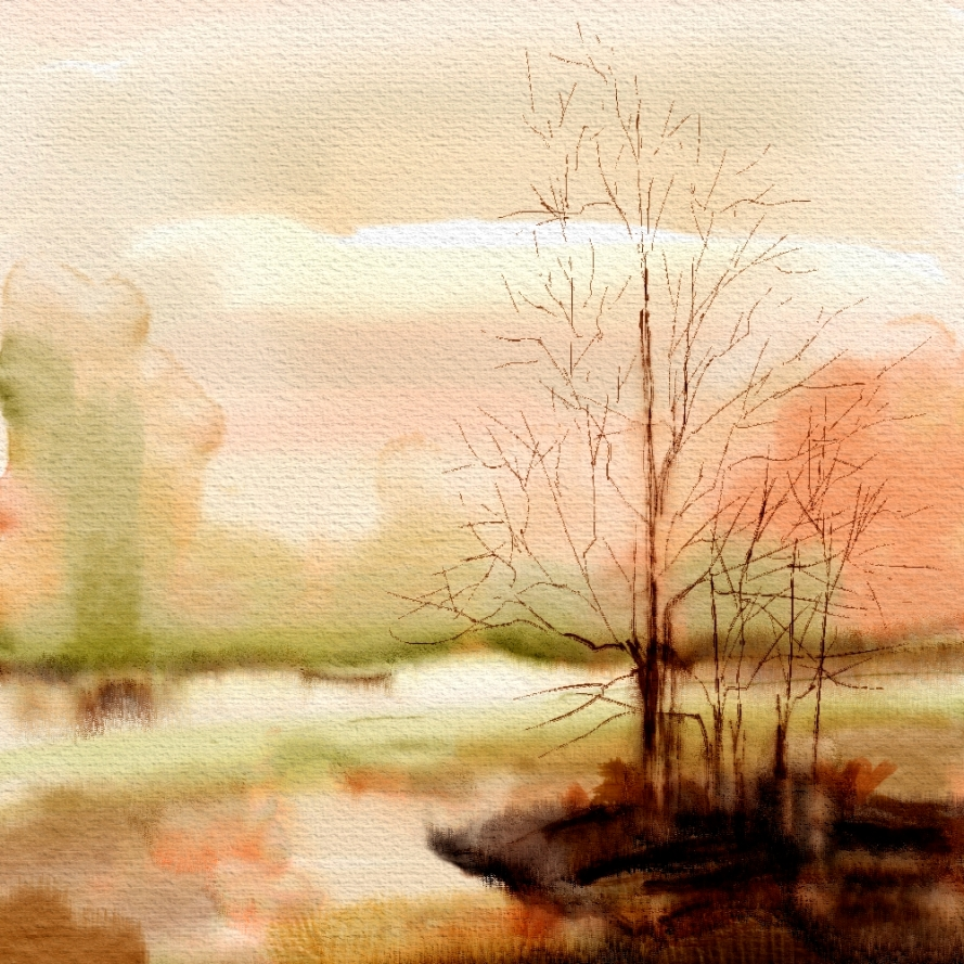 Landscape in Orange
