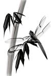Sumi-e Dragonfly