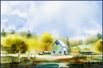 The Barn, Watercolor Corel Painter 12
