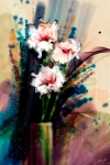 Three Flowers, Corel Painter X3, watercolors