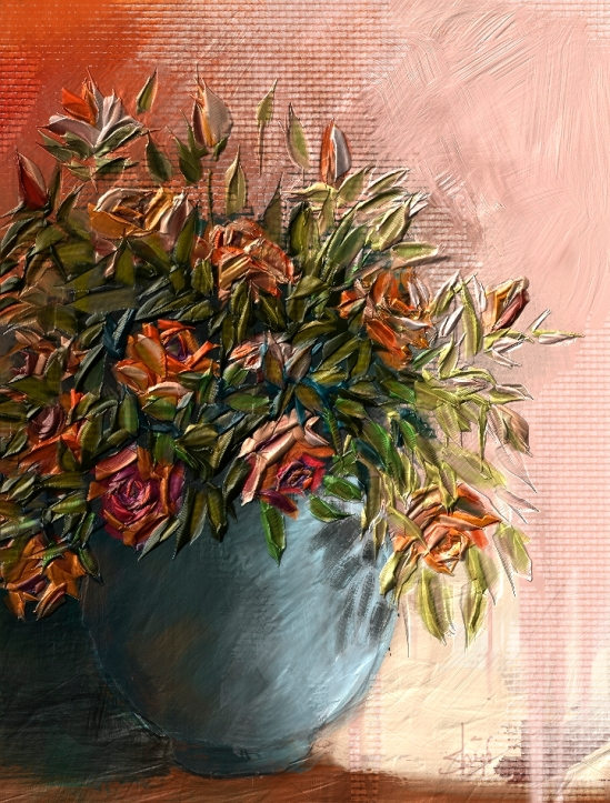Impasto painting in Corel Painter 12.2
