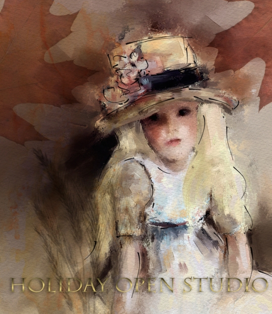 Image by Corel Master Painter Karen Bonaker; Subject for Holiday Open Studio