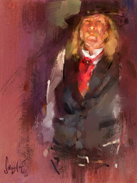Tim Shelbourne's Gunslinger, Corel Painter X3, using new Schmid brushes.