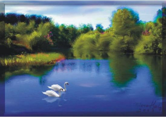 Swans on a Lake, Elaina Moore-Kelly, lesson 3 Introduction to Painter X3 Part 2