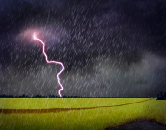 Powerful lightning in Week 2