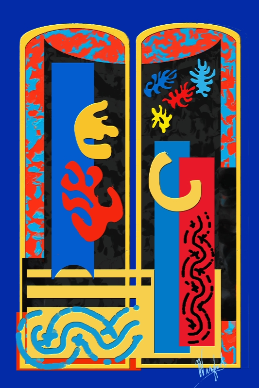 Window, Matisse Inspired, Winifred Whitfield, Corel Painter 2015