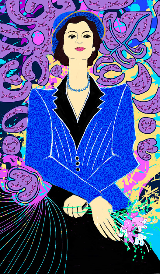 Woman in Blue, Matisse Inspired, Winifred Whitfield, Corel Painter X3
