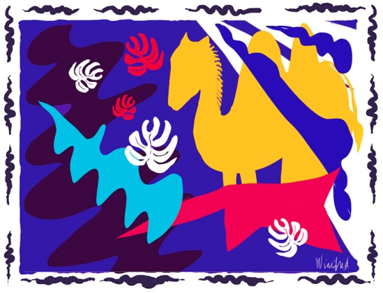 Gobi, Matisse Inspired, Winifred Whitfield, Corel Painter 2015
