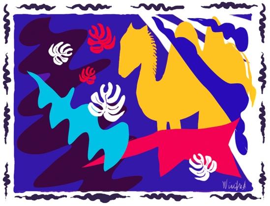 Gobi, Matisse Inspired, Winifred Whitfield, Corel Painter 2015