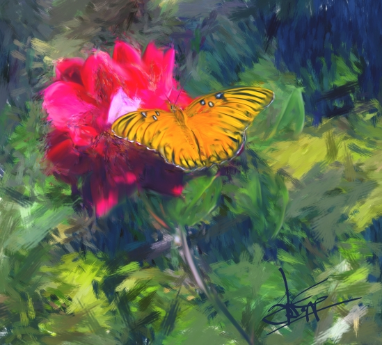 Butterfly and the Rose, Corel Painter Essentials 5, Skip Allen
