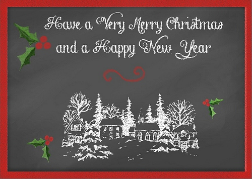 Elaina Moore-Kelly's Chalkboard Christmas