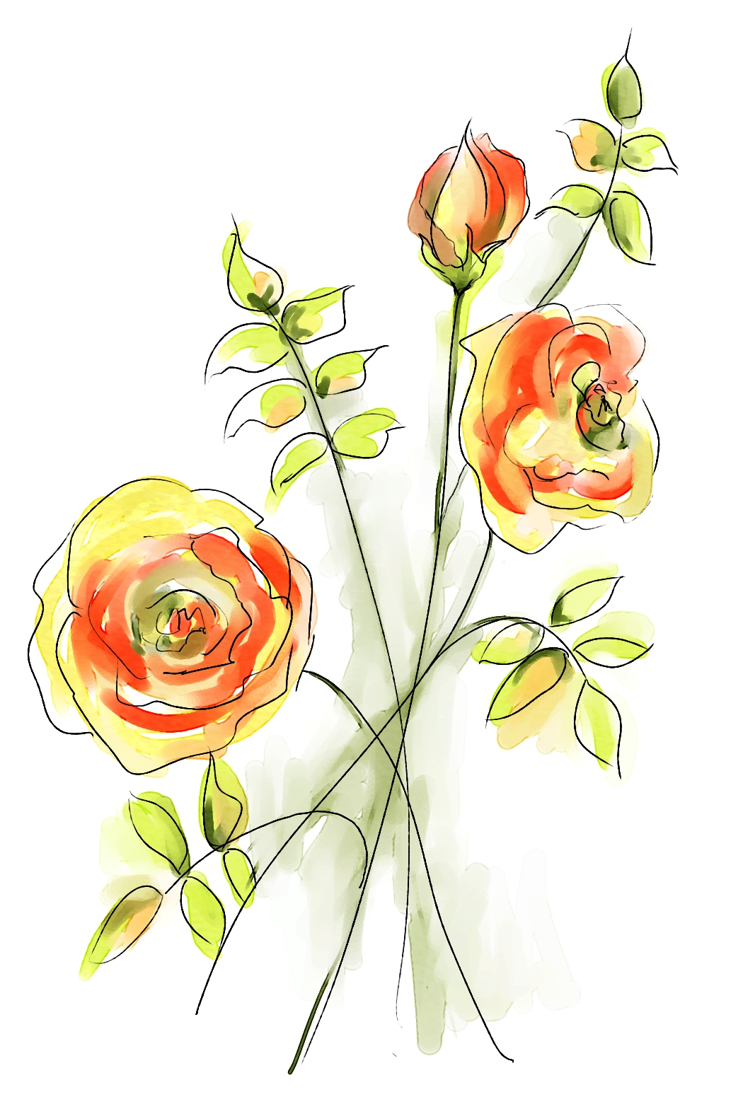 watercolor roses skip allen paints