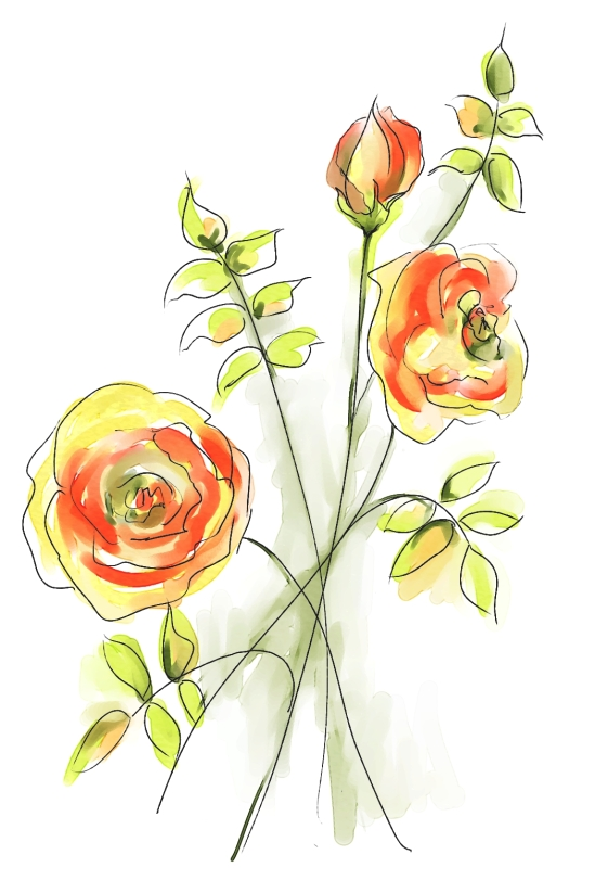 Watercolor Roses, Corel Painter Essential 5