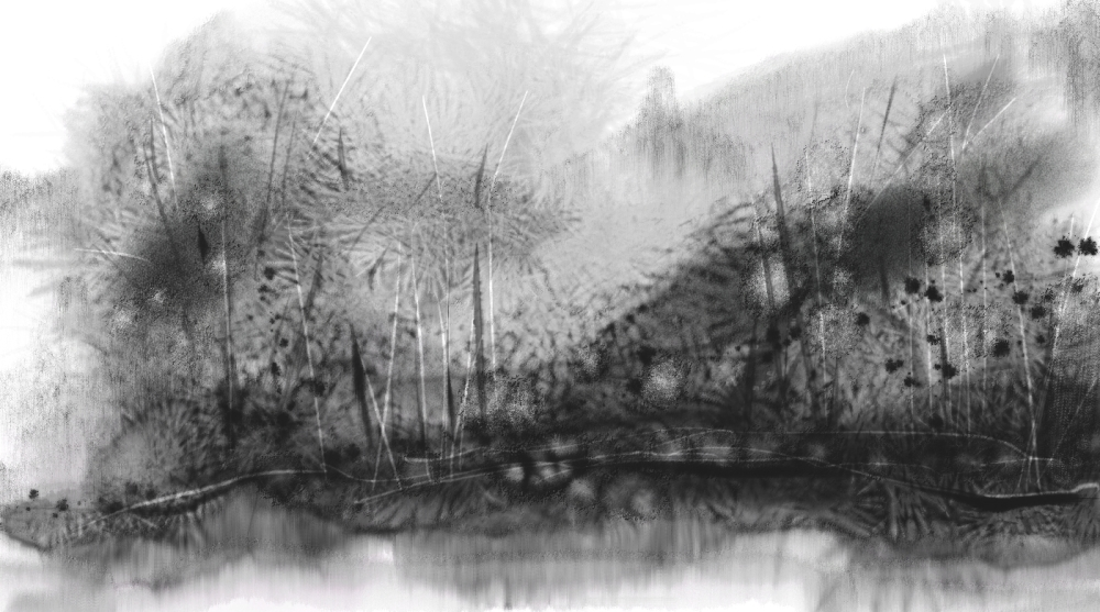 Stuff I've been doing lately...inky wash landscapes and other stuff (2/6)