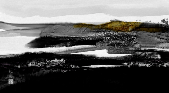The Lonely Hill, Corel Painter 2015