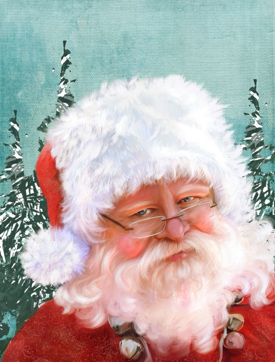 Santa Skip by Corel Painter Master Elite, Karen Bonaker, Corel Painter 2016