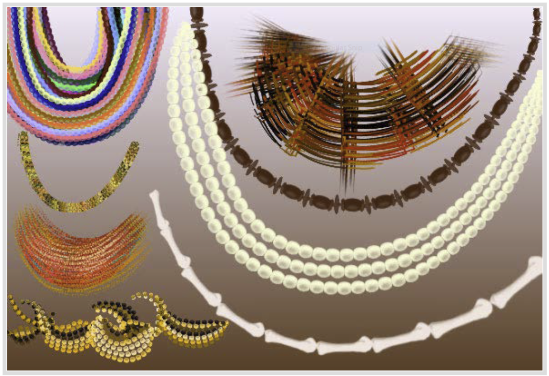 This image is a screen capture of Tribal Beads as shown on Jitterbrush