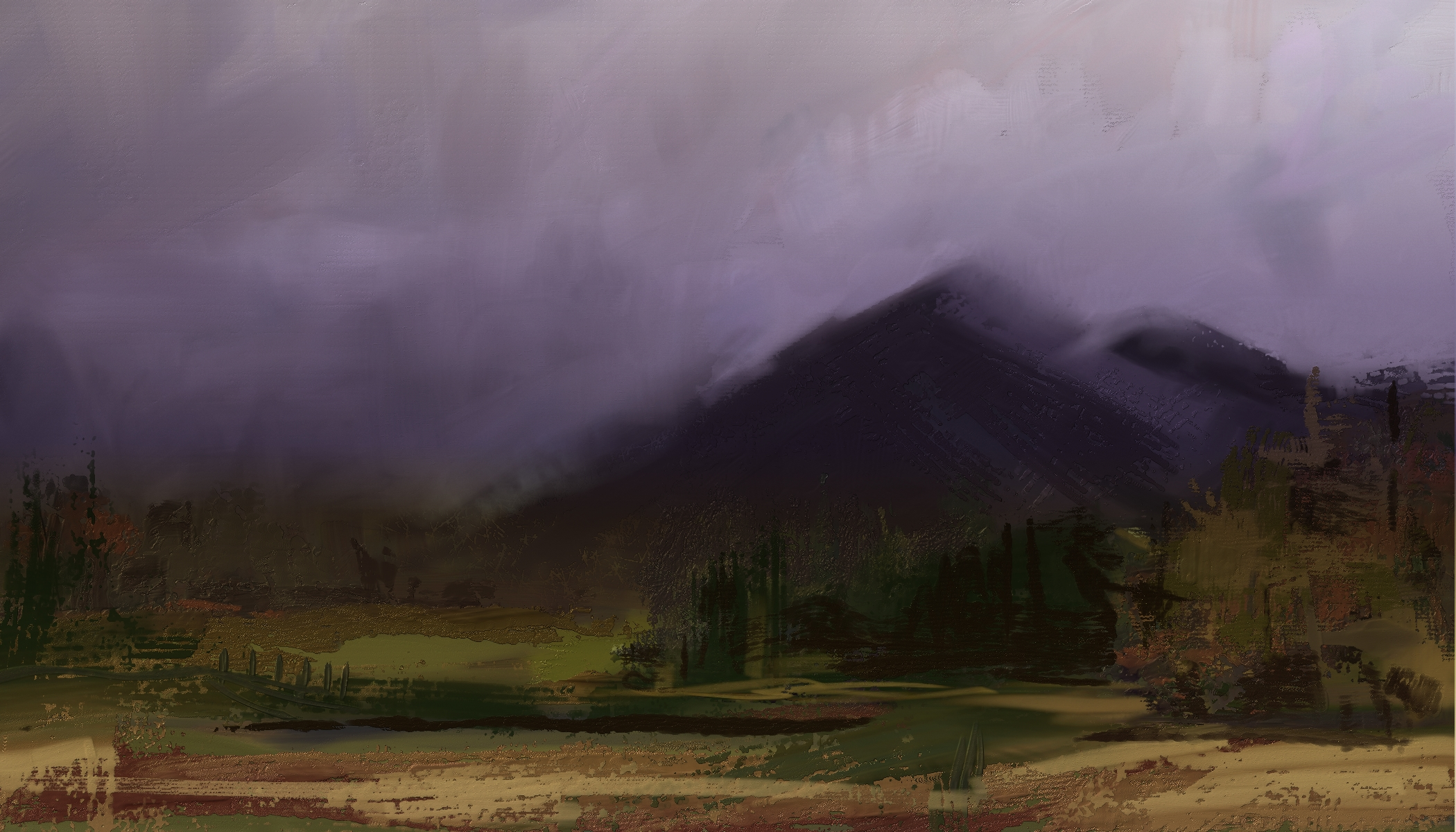 Skip allen paints painting with corel painter thick paint landscape done as a demo in painter 2018 is it real paint baditri Images